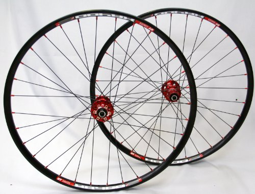 26 Zoll MTB Novatec Light Disc rot / DT Swiss XR 400 / D-Light 1525 g Laufradsatz
