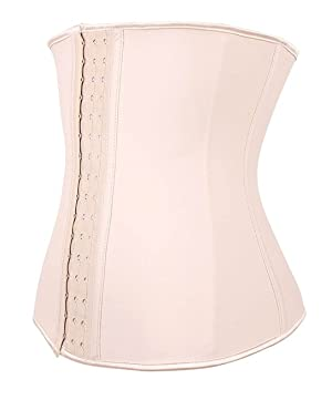 88f41de9ef YIANNA Underbust Sport Workout Latex Waist Trainer Corsets Fat Burner  Abdominal Trainer Waist Body Shaper for Weight Loss ...