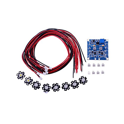 Kkmoon New Arrival Rc 8 Led Flashing Light/Night Light W/Led Board And Led Extension Wire For Multirotor Octocopter Night Fly