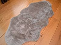 Silver Faux Fur Sheepskin Style Rug from Rugs Supermarket