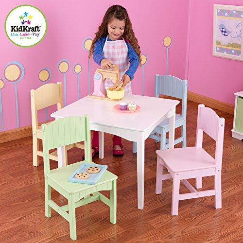 KidKraft Nantucket Table 4 Pastel Chairs My Home