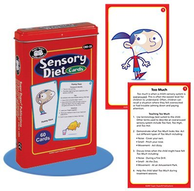 Sensory Diet Card Deck - Super Duper Educational Learning Toy for Kids