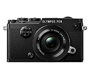 Olympus PEN F Camera - Black (14 - 42 EZ Lens)