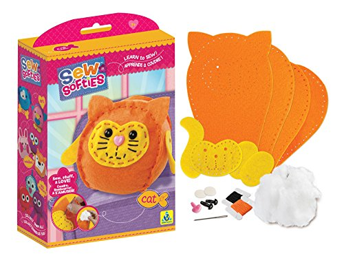 The Orb Factory Sew Softies Cat Building Kit