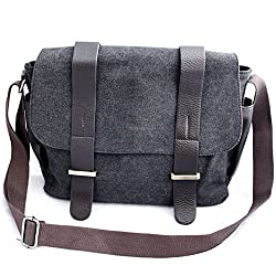 b.still Canvas Messenger Laptop Shoulder Bag for Men and Women from b.still