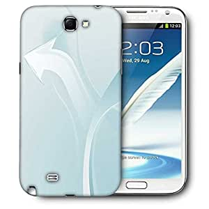 Snoogg White Arrow Printed Protective Phone Back Case Cover For Samsung Galaxy Note 2 / Note II