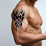 TAFLY Männer Temporäre Tattoo Tribal Muster Tattoo Aufkleber für Männer