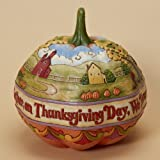 Jim Shore Heartwood Creek from Enesco Pumpkin Centerpiece Figurine 9.25 IN