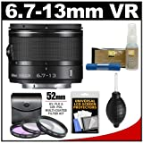 Nikon 1 6.7-13mm f/3.5-5.6 VR Nikkor-Zoom Lens (Black) with 3 (UV/FLD/CPL) Filters + Accessory Kit