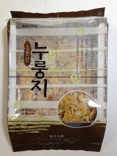Scorched Rice, Rice Flavored Cracker(nurungji) 200g X 5 Packs