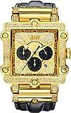 JBW JB-6215-238-G Men's Chronograph Diamond Watch, Black Band