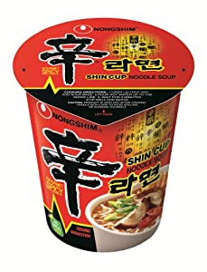 Nongshim Shin Noodle Cup, 2.64 Ounce Packages (Pack of 12)