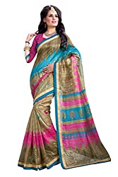 SNOVA Women's Kashmiri Cotton Silk Bollywood Party Wear Saree