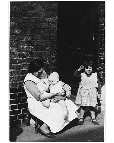 Photographic Print of Mother a Child On Step from Mary Evans