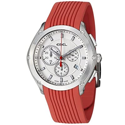 Ebel Classic Sport Mens Red Rubber Strap Chronograph Watch 9503Q51/16335617