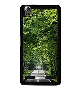 Fuson Premium 2D Back Case Cover Green park With Multi Background Degined For Lenovo A6000