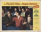 "The Private War of Major Benson 1955 Authentic 11"" x 14"" Original Lobby Card Charlton Heston Comedy"