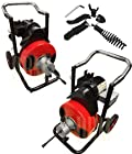1/2 Snake 100' Ft Electric Drain Auger Cleaner Cleaning Sewer Plumbing Cutter