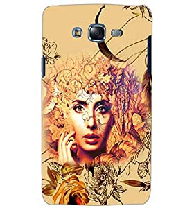PrintDhaba GIRL PATTERN D-6291 Back Case Cover for SAMSUNG GALAXY ON5 (Multi-Coloured)