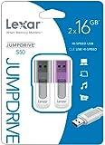 Lexar JumpDrive S50 16GB USB Flash Drive LJDS50-16GASBNA2 - 2-PK