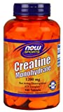 Now Foods Creatine Monohydrate Tablets, 1200 mg, 150 Count