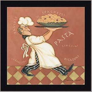 Pasta chef kitchen decor italian sign art for Italian kitchen prints