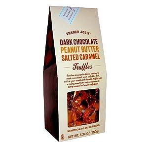 Trader Joes Dark Chocolate Peanut Butter Salted Caramel Truffles
