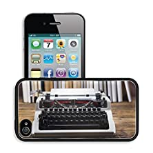 buy Luxlady Premium Apple Iphone 4 Iphone 4S Aluminum Backplate Bumper Snap Case Image Id 31774475 Vintage Typewriter On Old Book