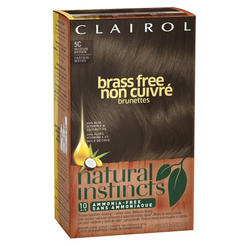 Clairol Natural Instincts Brass Free 5C Medium Brown 1 Kit (Pack Of 3) (Packaging May Vary) front-1065905