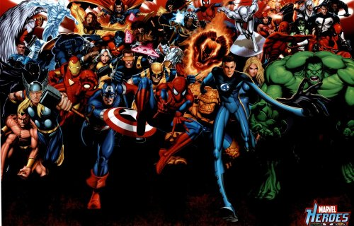 Marvel Heroes (Attack, Huge) Art Poster Print  39