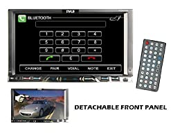 See Pyle PLDN76DB 7' Double Din TFT Touch Screen DVD/MPEG4/MP3/CD-R/USB/SD/AM/FM/RDS With Bluetooth Details