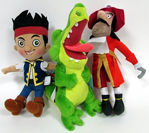Jake and the Neverland Pirates 3 Piece Stuffed Animal Plush 9