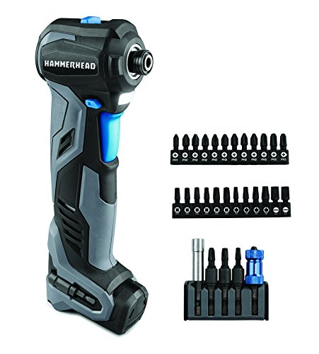 Buy HAMMERHEAD HCID120-30 12V Compact Impact Driver/Auto Hammer with 30-pc Impact Bit Kit Combo