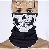 E-tech® Black Seamless Skull Face Tube Mask Buff