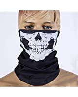 E-tech® Black Seamless Skull Face Tube Mask Buff