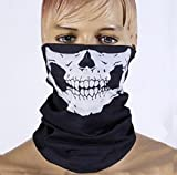 E-tech® Black Seamless Skull Face Tu...