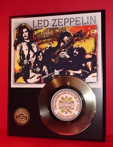 Led Zeppelin 24Kt Gold Record Ltd Edition Display