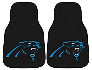 Carolina Panthers Printed Carpet Car Mat 2 Piece Set