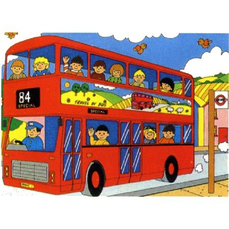 Picture of Jumbo Bus Floor Puzzle 15pc (B000J5C680) (Floor Puzzles)