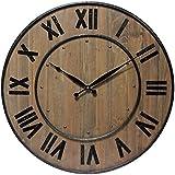 Infinity Instruments Brown Wine Barrel Wall Clock