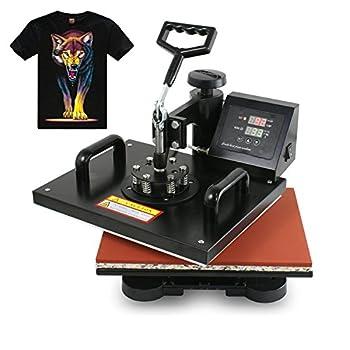 F2C Pro 5 in 1 Digital Transfer Sublimation Heat Press Machine Hat/Mug/Plate/Cap/T-shirt Multifunction New Black(5 in 1)