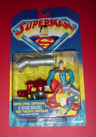 Superman: Power Swing Superman Figure with Blast-Apart Robot