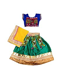Aglare,Ethnic wear,Lehenga Choli floral,navratri,Garaba,,Gujarat,kutch,Baby Girl Lehenga choli,Kids Lehenga choli ,Lehenga choli for Girls,Ethnic wear,Lahenga choli for small girls ,(Full set Stitched)