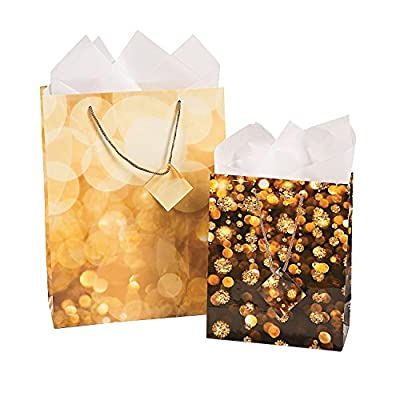 Celebrate Lights Gift Bag Assortment (12 Pack) Christmas Party Supplies