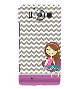 Best Ever Mom Maa 3D Hard Polycarbonate Designer Back Case Cover for Nokia Lumia 950 :: Microsoft Lumia 950