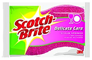 Scotch-Brite Delicate Duty Scrub Sponge, 6-Count