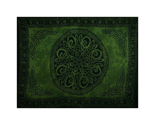 Sarong, Celtic - Green Circle Knot - Some Shade Variation