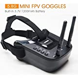 5.8Ghz FPV Goggles, ARRIS VR-009 Video Headset 5.8G 40CH HD 3 Inch 16:9 Display Mini FPV Goggles for FPV Quadcopter Drones