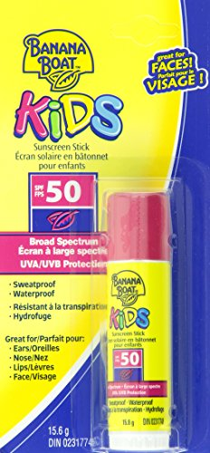 Banana Boat Sunscreen Kids Broad Spectrum Sun Care Sunscreen Stick - SPF 50 (Pack of 4)