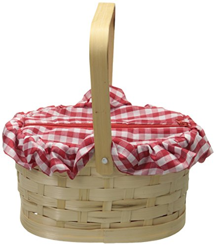 Rasta Imposta Gingham Basket, Red, One Size (Little Red Riding Hood Basket compare prices)